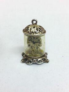 Sterling Silver Charm Vintage Clock