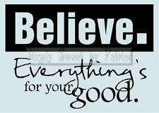 BELIEVE GOOD Vinyl Wall Saying Lettering Quote Home Decoration Decal Sign Craft
