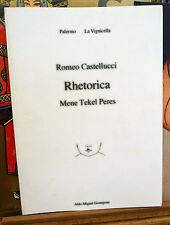 Romeo Castellucci,RHETORICA,2000[Teatro,Societas Raffaello Sanzio,catalogo