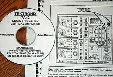 Tektronix 7A42 Logic Triggered Vertical Amp, Operating & Service Manuals (3 vol)