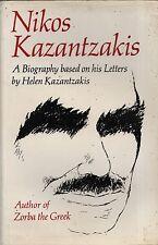 "NIKOS KAZANTZAKIS - ""BIOGRAPHY BASED ON HIS LETTERS"" - BY HIS WIDOW-  HB  (1968)"