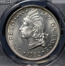 Dominican Republic 1952 Peso PCGS MS65 stunning frosty luster rare grade PC0364