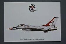 R&L Postcard: F16A Fighting Falcon The Thunderbirds USAF, Squardron Prints
