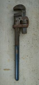 """RECORD 18"""" STILSONS WRENCH IN GOOD USED CONDITION ~ 1970's"""