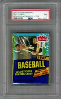 1987 Fleer Baseball Sealed Cello Pack Incaviglia and Jose Canseco Top PSA 7