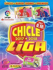 CHICLES DE LA LIGA ESTE 2017/2018 COLECCIÓN COMPLETA 60 CROMOS SIN LOS QUIEN ES
