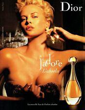 Publicité Advertising 089  2007  parfum Dior J'adore l'absolu & Charlize Theron