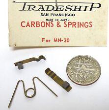 1 Set Vintage TRADESHIP Japan 1/24 1/32 Slot Car CARBONS +SPRINGS MN-30 #2023