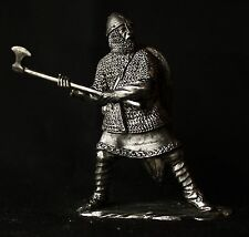 Norman Knight with Broad Axe Tin Toy soldier 54 mm., figurine, metal sculpture.