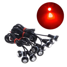 10x Eagle Eye Red LED 9W 18MM Car Fog Running Light DRL Reverse Backup Lamp Kit