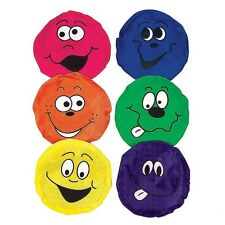 6 Smiley Face Reinforced Nylon Bean Bags Carnival Games Toss Cornhole Baggo