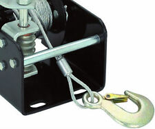 2K Lb Capacity Worm Gear Hand Manual Winch Tow Puller 40:1 Ratio Trailer Pickup