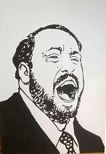 Manara Planche , Original Encre de Chine 50X70 Pavarotti Beaux-Arts Tournai 90