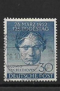 BERLIN 1952 30pf. BEETHOVEN FINE USED. SG. B87.  (1875)