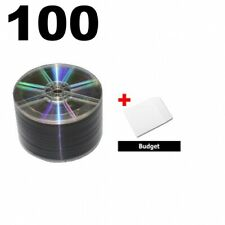 100 Grade A 16x Dvdr 47gb Shiny Silver Shrink Wrap Amp 100 Paper Sleeves