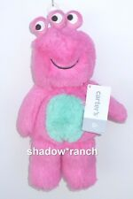 NWT Carters Pink Monster Plush Three Eyes Stuffed Alien Lovey Toy