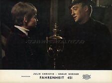 OSKAR WERNER JULIE CHRISTIE FAHRENHEIT 451 1966 VINTAGE LOBBY CARD #8