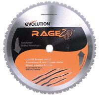 Evolution Rage 2  14 in. Dia. 36 teeth Carbide Tip Steel  Circular Saw Blade