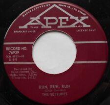 THE GESTURES Run, Run, Run /It Seems To Me Ex to NM- CANADA ORIG 1964 GARAGE 45