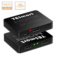 1 In 2 Out 4K@30hz 1x2 HDMI Splitter Amplifier Repeater Support 3D 1080P