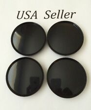 "4 pcs Black Universal  Empty Wheel Center Caps 63mm/2 1/2"" Chrysler Jeep Dodge"