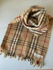 Burberry (vintage) Classic Nova Check Cashmere / Wool mix Scarf Fresh + Clean