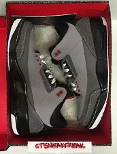 Nike Air Jordan 3 Retro Stealth Grey Size 12 Graphite Black Red Bred 136064-003
