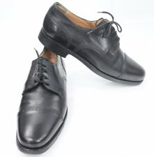 Mens Aldo Brue Attiva Black Cap Toe Leather Oxfords Shoes US 7, Euro 40
