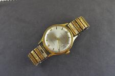 ältere Armbanduhr von Kienzle,Aufzugswerk läuft mit schmalem Strechband um 1965