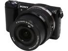 A - Sony A5000 Digital Camera + 16-50mm PZ Lens: Black - Refurbished