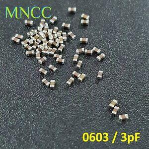 2/5/10pc 0603 3pF 50V 0.25% MLCC Chip Capacitor SMD Multi Layer Ceramic Loose