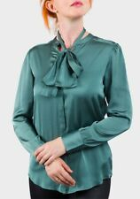 Marks & Spencer blue or green satin style blouse sizes 16, 18, 20 & 22 UK
