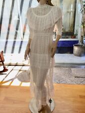 Lim's Vintage Victorian Style Maxi Dress, Made of Vintage Machine Lace