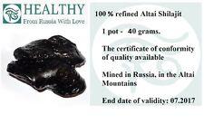 Shilajit 40g x 4 jars (Shilajeet, Mumiyo, Mumijo, Asphaltum, Mineral Pitch)