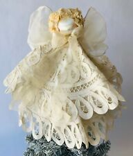 """Angel Christmas Tree Topper Battenburg Lace Victorian Style 12"""""""
