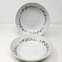2 Spring Garden Pink Rose Soup Bowls Fine China of Japan 6 1/4""