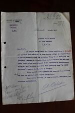 ✒ L.S. André CITROEN industriel - rare lettre signée du 9 août 1917