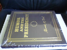 PRESIDENT GERALD FORD SIGNED - HUMOR AND THE PRESIDENCY - EASTON PRESS LEATHER