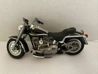 HD Harley Davidson Diecast Motorcycle Scale 1:32 Collectible Silver Black