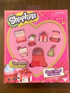 Shopkins Valentines Sweet Heart Collection 6 Exclusive NEW