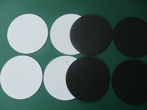 die cut shapes circles 20 pieces in total.colour black/white. size 7.5 cm .