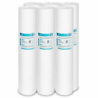 "6X Sediment Polypropylene Water Filter Replacement Cartridge 10""x 2.5"", 5 Micron"