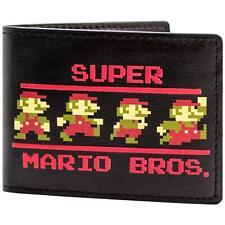 Official Super Mario Bros 8-Bit Retro Poses ID & Card Bi-Fold Wallet *SECOND*