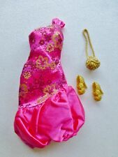 Barbie Fashionistas Sassy Gown Life Hot Pink & Gold Dress & Accs 2012