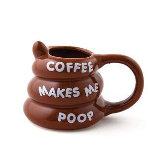 Coffee Makes Me Poop Coffee Mug 350ml – tea coffee ceramic emoji emoticon