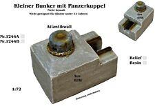 Neu Nr.1244A Kleiner Bunker mit Panzerkuppel Atlantikwall 1:72 für Diorama