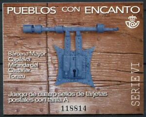 Spain Tourism Stamps 2021 MNH Charming Towns Landscapes 4v S/A Booklet