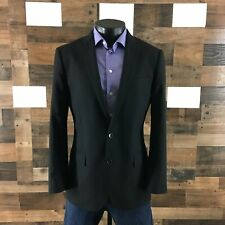 J Crew Ludlow Super 120's By Loro Piana 2PC Suit 40R Pants 34x30 Solid Black