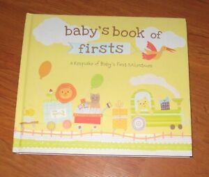 Baby's Book Of Firsts ALBUM Keepsake Milestones record memories JUNGLE animals