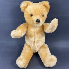 """Vintage 1950's Jointed TEDDY BEAR 15"""" Toy Farnell Mohair"""